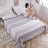 艾薇 床单家纺 全棉斜纹印花被单 单人纯棉床单 单件 日光倾城 1/1.2米床 150*2