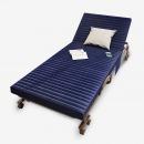 木以成居 折叠床 简约单人床 午睡床卧室沙发懒人沙发床190cm 藏青色LY-4075